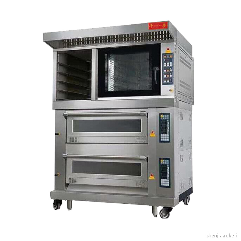 Commercial combination furnace five plate hot stove+two layer four plate electric oven Pizza/bread/cake baking machine 220V/380V