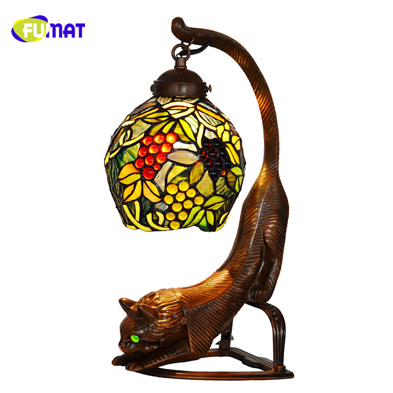 Fumat Glass Table Lamp Retro Style Garden Story Grape