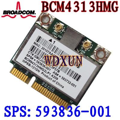 Broadcom 4313 Wifi Karte 593836-001 Bcm94313hmg2lp1 Dm1 Dm2 Dm3 Dm4 Mini 110 G72 Dv7 150 mbps Wireless Für laptop 802.11bgn