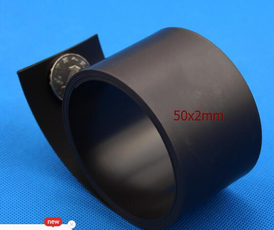 Best price rubber magnet material  50x2mm Magnetic Strip  Rubber Magnet 1M Length width 50mm thickness 2mm, 50mm x 2mm best free shipping 2 meters self adhesive flexible magnetic strip magnet tape width20x1 5mm ad teaching rubber magnet