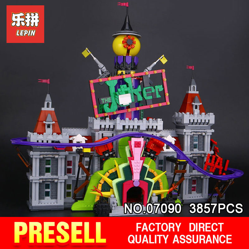 Lepin 07090 Super Hero Series The Joker's Manor Set Hot-sale 3857Pcs 70922 Building Blocks Bricks Toys Model for Children Gifts hot sale 1000g dynamic amazing diy educational toys no mess indoor magic play sand children toys mars space sand