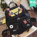 Famous Brand Demon Eyes Monster Backpack New Korean France Fashion Retro Nylon Schoolbag For Teenagers Istitute Wind Backpack
