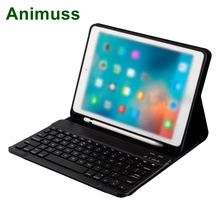 Animuss Split Gift Smart Stand Folio Cover Case Wireless Bluetooth Keyboard For iPad Air 1 2 Pro 9.7 Inch With Pencil Holder