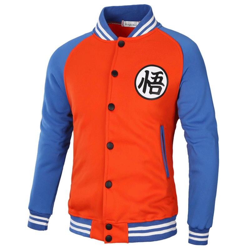 Brand 2018Hoodies Men Dragon Ball Coat Casual Male Jacket Moleton Masculino Slim Cotton Mens Sweatshirts Hip Hop XXXL