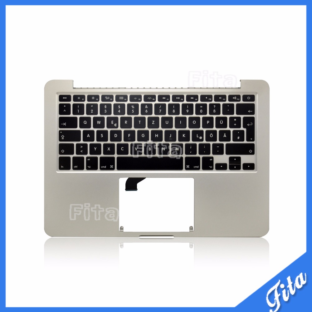 New For MacBook Pro Retina 13 A1502 2015 Topcase Palmrest with GR keyboard new original for macbook retina 13 a1502 thailand thai topcase palmrest with keyboard no touchpad 2013year