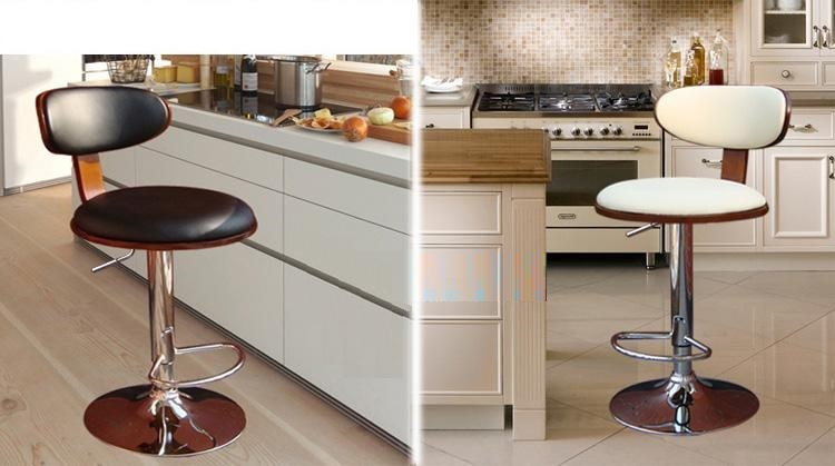 Hotel Hall Buffet Chair Black White PU Leather University Lectern Stool Oceania Popular Chair