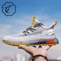 CatriCa 2019 Hot Sale Designer Men Shoes Fashion Male Trainers High Quality Human Race Tennis Sneakers White Orange Black L 2229
