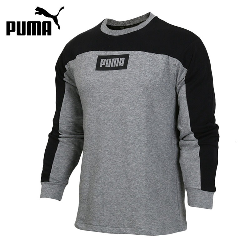 Original New Arrival 2018 PUMA Rebel Block Crew TR Men's Pullover Jerseys Sportswear
