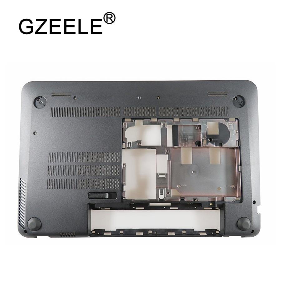 GZEELE NEW FOR HP Envy 15J 15-J 15-J000 15-J100 Lower Bottom Base Case Cover 720534-001 gzeele laptop lcd back cover screen for hp for envy 15 15 j 15 j000 15 j100 lcd front bezel cover 720535 001 b shell touch black