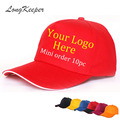 LongKeeper 2016 Fashion Golf Logo Cotton Baseball Cap Sports Golf Snapback Outdoor Simple Solid Hats For Men Gorras 10pcs/lot