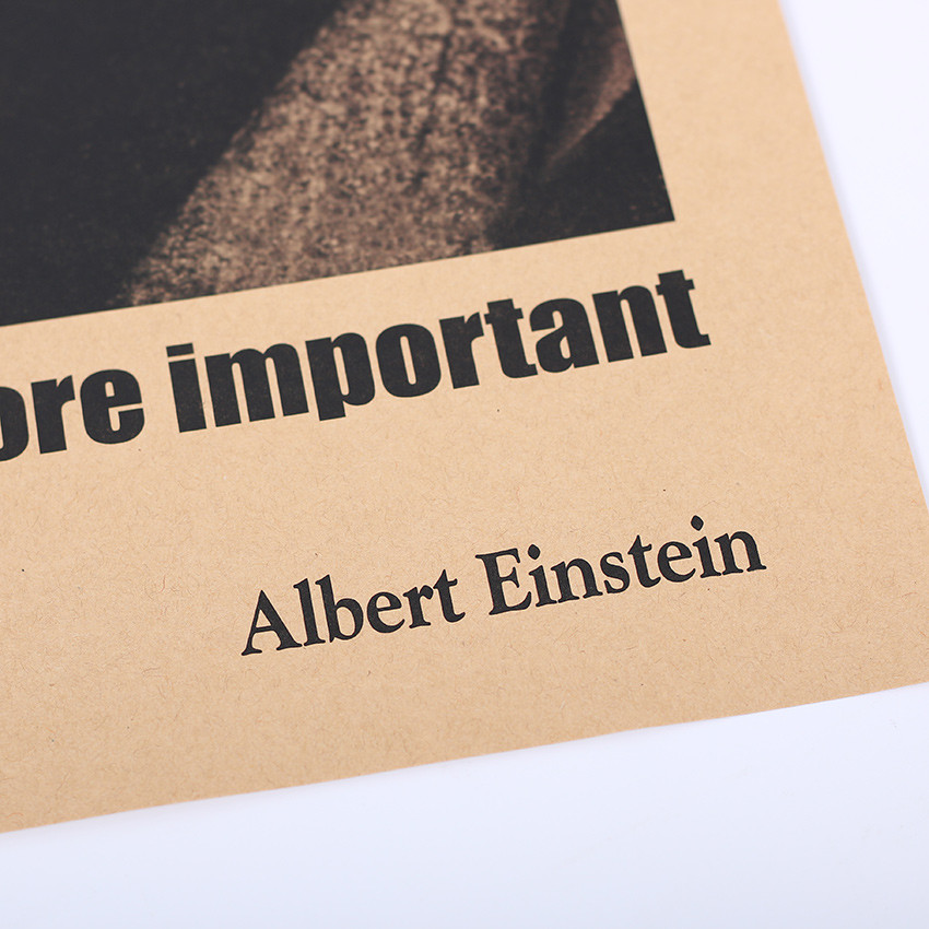 vintage Albert Einstein 'Imagination Is More Important Than Knowledge' paper poster