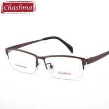 Chashma Gentlemen Pure Titanium Frame Lentes Opticos Gafas Top Quality Frames Male Wide Long Temple Eyeglasses