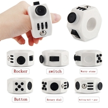 Decompression toy  Press Magic Anti Stress Cube Fidget Toy Stress and Anxiety Relief Depression Anti Cube for KIDS and Adults squeeze fun stress reliever gifts fidget cube relieves anxiety and stress juguet for adults children fidgetcube desk spin toys