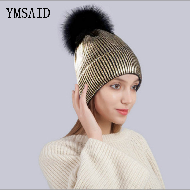 Unisex Hats Women's Winter Hat Autumn Men Soft Warm Knitted   Skullies     Beanies   Hat Acrylic Solid Metallic Hip Hop Hairball Hat