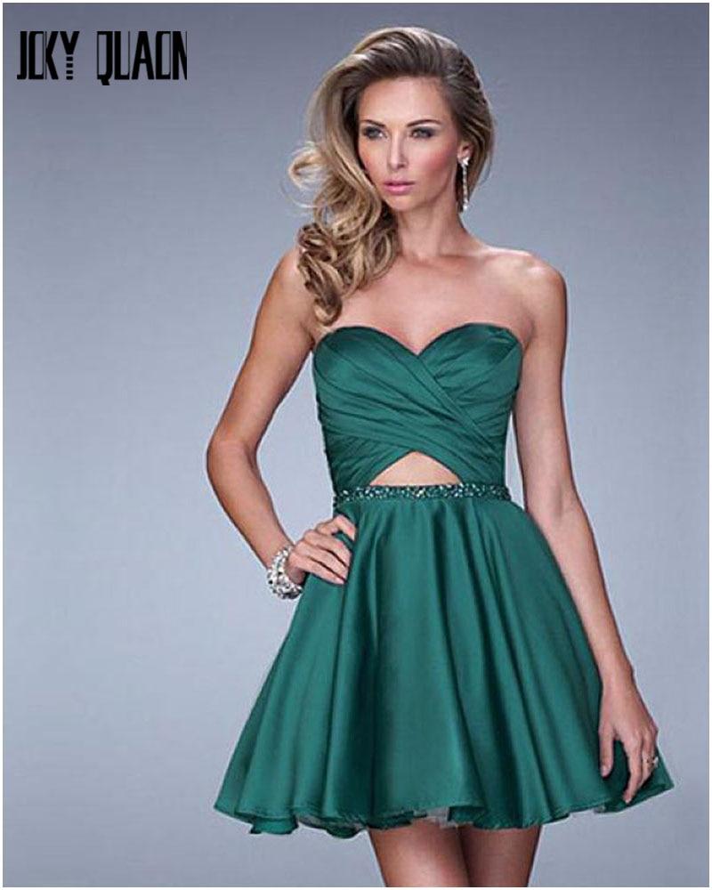 Popular Green Satin Cocktail Dress-Buy Cheap Green Satin Cocktail ...
