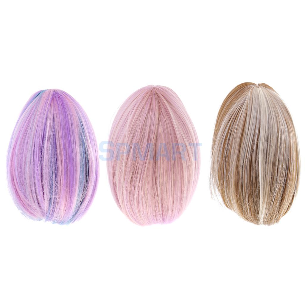 3 Pieces Dolls Straight Heat Resistant Hair Wig for 18'' American Girl Doll DIY Making ACCS 26 inch synthetic lace front wigs heat resistant full wig long straight hair brown