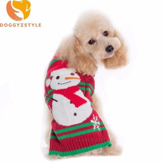 Navidad perro raya invierno ropa para pequeños grandes Perros ...