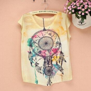 Promoción venta American Fashion T - shirt mujeres nuevo 2014 vestido de verano las niñas novedad impreso camiseta big size women s Top Tees