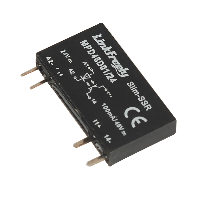 MPD48D01 24 4 Pin PCB Micro Voltage Relay Switch Module 24V DC In 48VDC 1A Out Smart Auto DC DC SSR Solid State Relay Bank Mini in Relays from Home Improvement