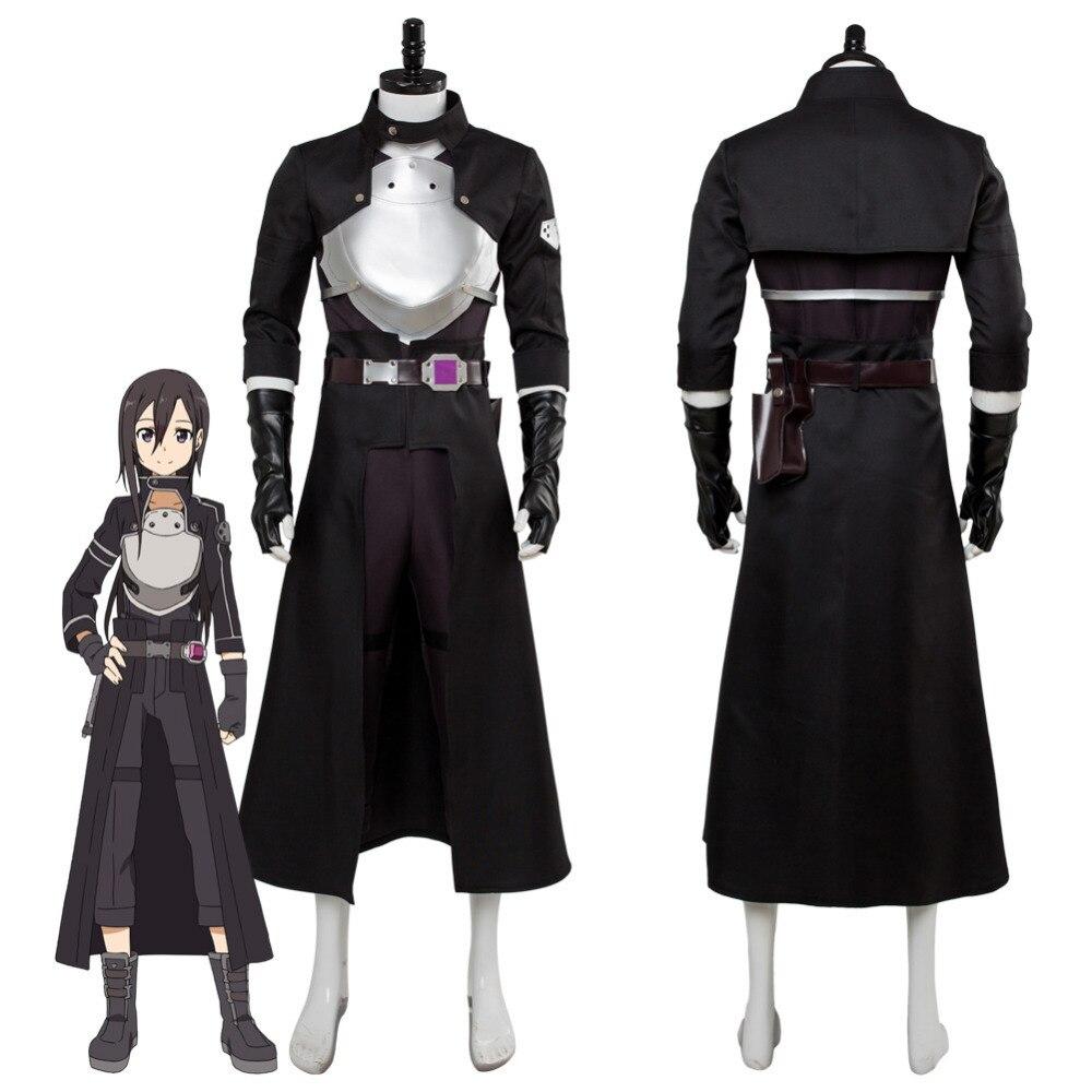 Sword Art Online Fatal Bullet Kirito Kirigaya Kazuto Cosplay Costume Dress Suit Uniform Halloween Carnival Costumes