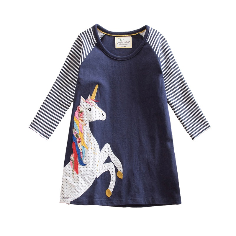 Retail Girls Dresses Girl Princess Dresses Animal Children Clothing Kids Horse Winter Child Dresses Party JM7656 hi ce new m size mechanical horse kawaii animal ride on horse tiger rode on horse kids toy suitable for children adult youth