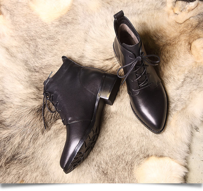 Pathfind Women Chelsea Genuine Leather boots luxury brand shoes Ankle Motorcycle Warm Black lady Boots Sapato Feminino plus size