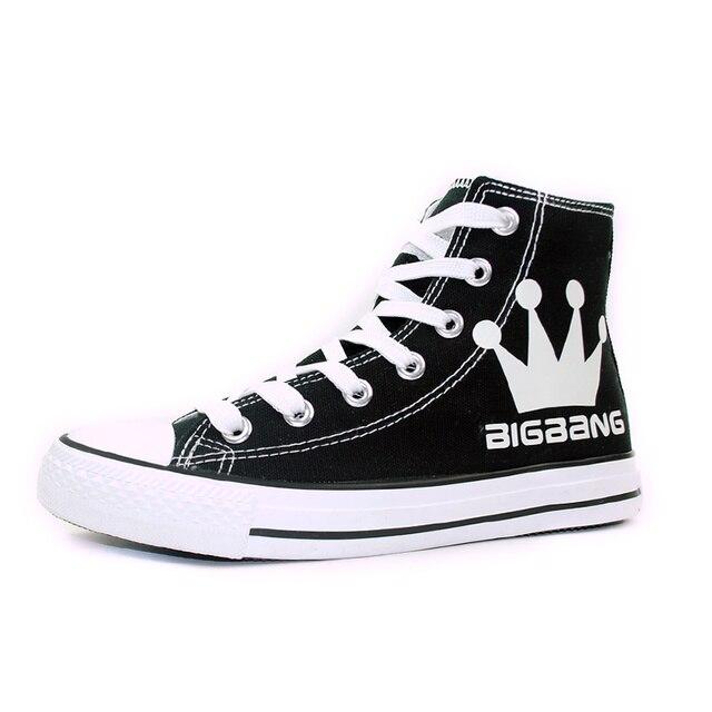 7c9f8e9d343 El Bigbang estilo g-dragon pintado a mano zapatos de lona mujeres  especializada luminosa zapatillas