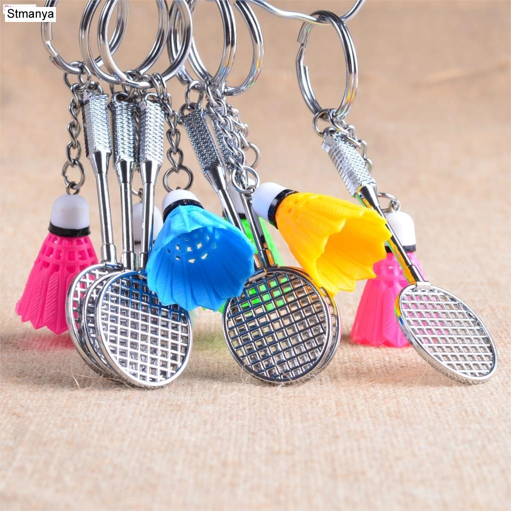 Badminton Keychain - New Design Cool Luxury Metal Keychain Car Key Chain Key Ring Chain Pendant For Enthusiasts Gift  #1-17228