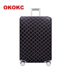 OKOKC карта мира эластичный толстый багажный чехол для багажника чехол для 18 ''-32'' чехол для костюма, защитный чехол для костюма аксессуары для путешествий