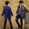 Бесплатный shiiping зимние детская одежда мальчик хлопок-мягкие одежды пальто хлопка-ватник подростков в возрасте 12-15