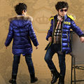 Free shiiping winter children clothes boy cotton-padded clothes coat cotton-padded jacket teens aged 12-15