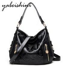 High quality Leather Lady Handbags Woman Shoulder Crossbody Bags Sac A Main Femme Luxury High capacity Tote Designer Women Bags цены