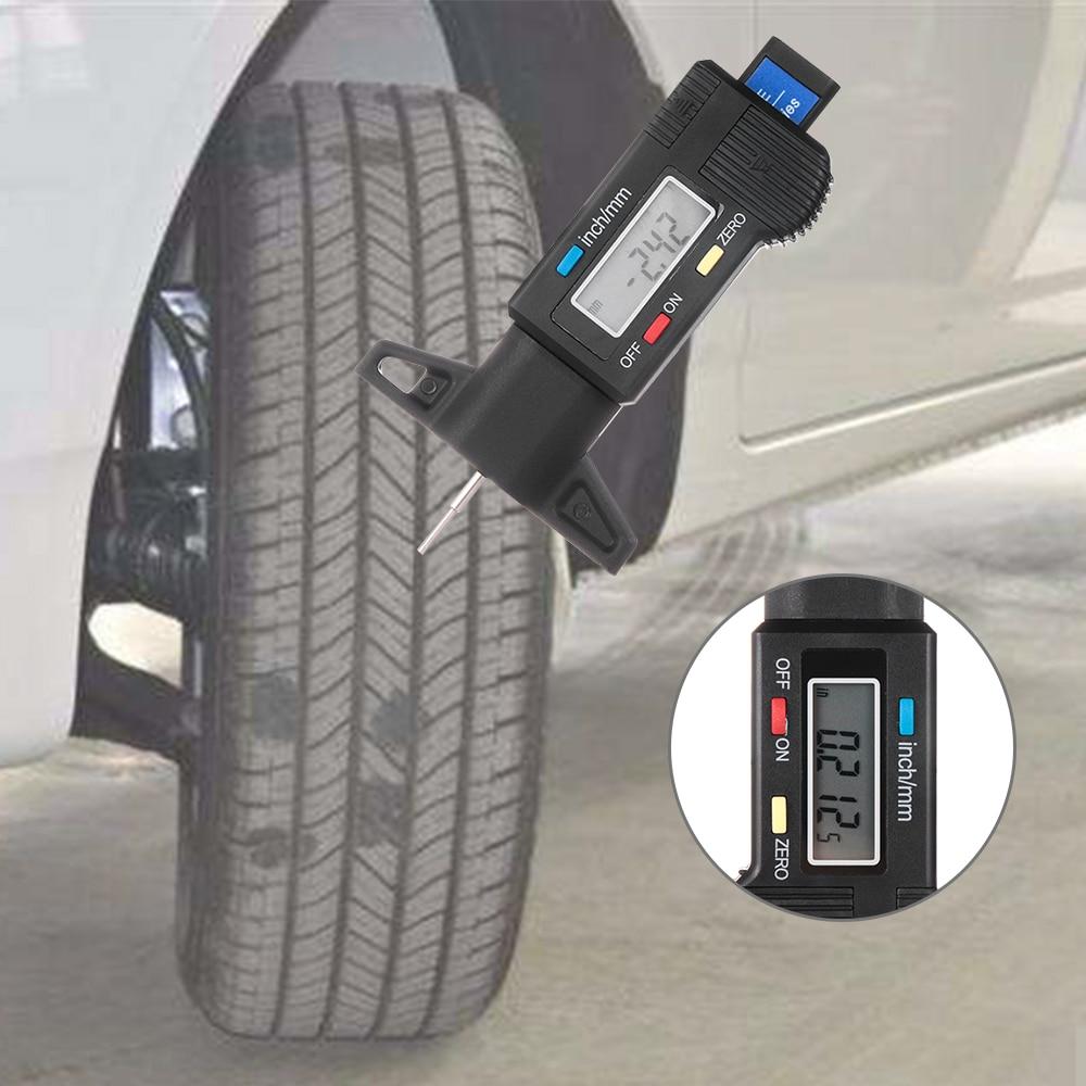 Measuring Ruler Tyre Depth Gauge Automobile Tire  Electronic Digital Display