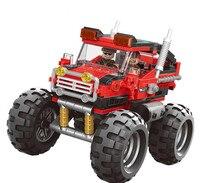 Legoinglys Monster Truck Model Building Blocks The All Terrain Vehicle Cars Bricks Toys Offroad Adventure Educational Gift