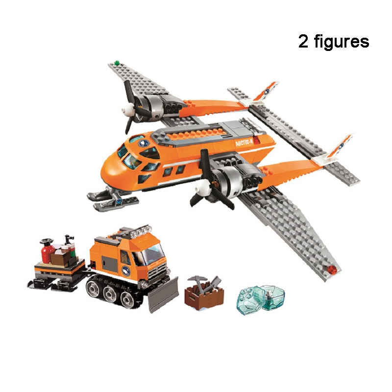 2017 10441 Arctic Supply Plane Model building kits compatible with lepin city 3D blocks Educational toys hobbies for children bela 10439 compatible lepin city arctic helicrane building blocks policeman figure toys for children girls