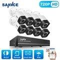 SANNCE Системы ВИДЕОНАБЛЮДЕНИЯ 720 P 8-канальный HD DVR комплект Безопасности Открытый ИК ночного Видения AHD Камеры комплект Главная Безопасность Системы Видеонаблюдения 1 ТБ HDD
