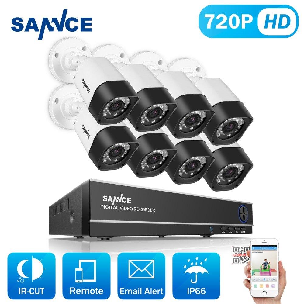 SANNCE CCTV System 720P 8ch HD Security DVR kit Outdoor IR Night Vision AHD Camera kit Home Security Surveillance System 1TB HDD пылесос zelmer zvc762zpru с мешком сухая влажная уборка 1500вт серо оранжевый vc7920 5sp
