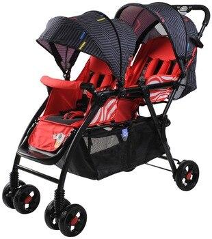 赤ちゃんグッドベビーカー 705 ダブルフロントと後部座席ライト位置することができるフラット冬と夏使用ブラザー車