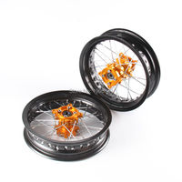 Pit bike Rims 15mm hole 2.50 12inch & 3.00x12inch front and rear wheel with gold CNC hub for KTM CRF dirt bike