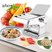 LSTACHi Stainless Steel ordinary Household Pasta Making Machine Manual Noodle Maker Hand Operated Spaghetti Pasta Cutter hanger