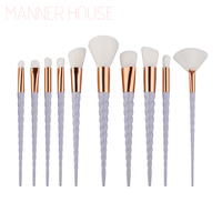 MANNER HOUSE 10PCS Makeup Brushes Fantasy Set Foundation Powder Eyeshadow Kits Gradient Color Makeup Brush Set