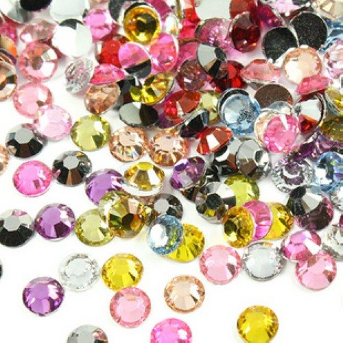 Mixed Colors 2/2.5/3/4/5/6/7/8mm Resin Rhinestones For Nails Flatback Nail Crystals Strass Nail Art Glitter Decorations Stones 5 colors fish scale nail art sequins mermaid hexagon glitter rhinestones for nails for diy manicure nail art tips decorations