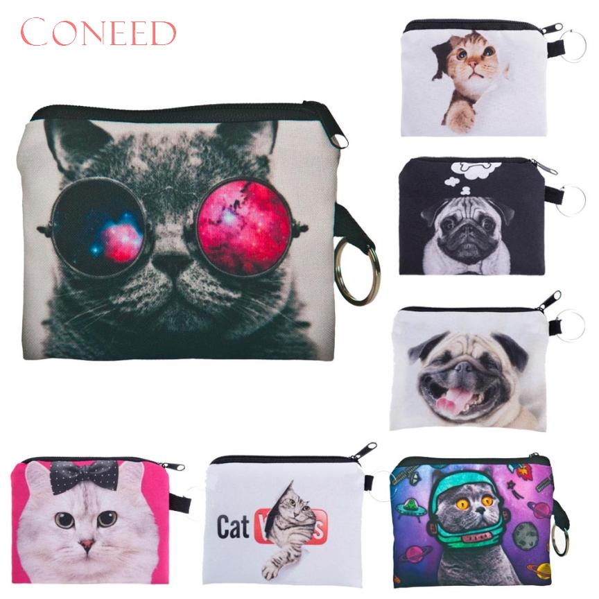 Fashion Handbags Charming Nice CONEED Girl printing coins change purse Clutch zipper zero wallet phone key bags May8 Y30