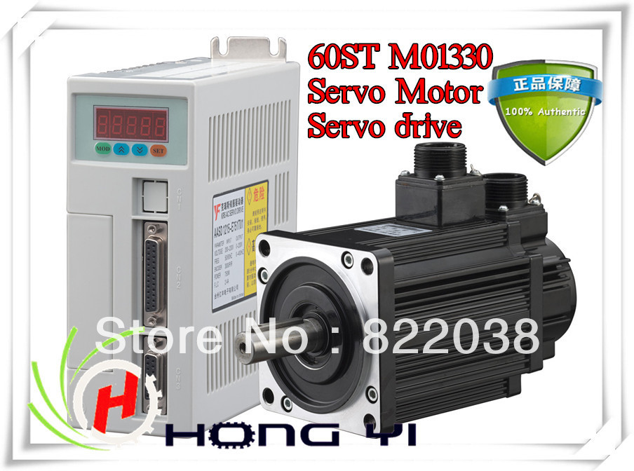 Best price great quality Servo system kit 1.27N.M 0.4KW 3000RPM 60ST AC Servo Motor 60ST-M01330 + Matched Servo Driver high quality ac servo motor 60st m00630 200w 3000rpm 0 637nm and matched servo driver ep100b 3a