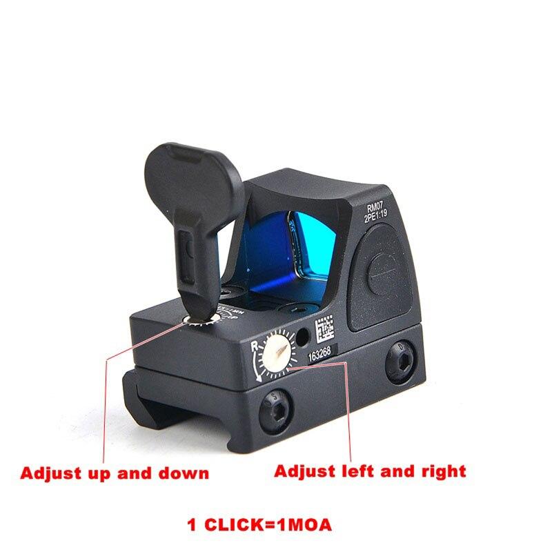Portée tactique RMR réflexe point rouge vue 3.25 MOA point luminosité réglable 1X vue avec 1913 & Glock monture chasse Airsoft vue