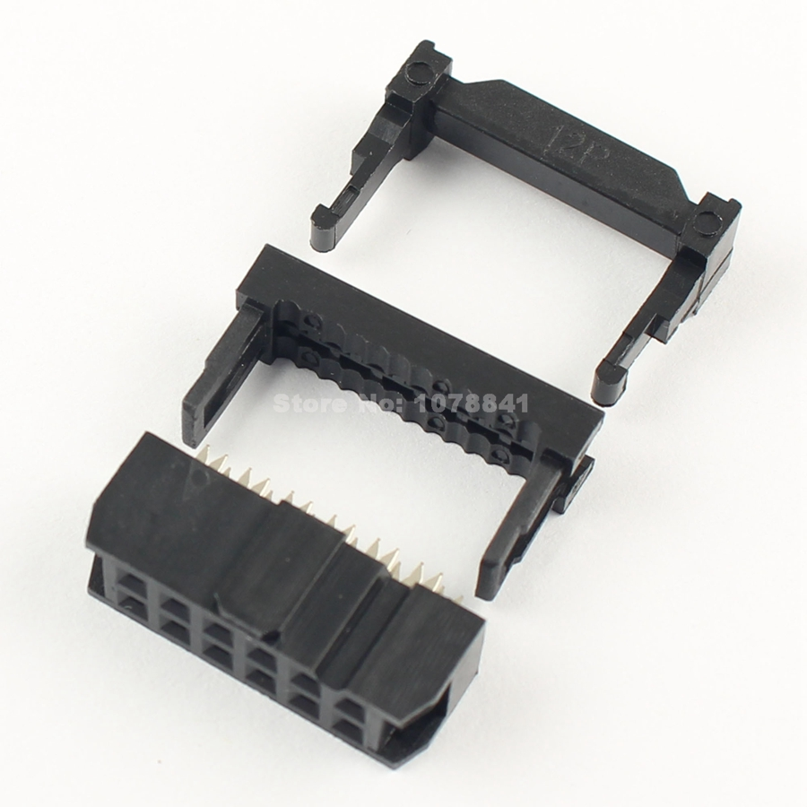 Lights & Lighting Lighting Accessories 50 Pcs Per Lot 2.54mm Pitch 2x6 Pin 12 Pin Male Header Idc Ribbon Cable Transition Connector