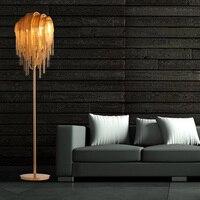 Алюминий пол свет гладить серебро/золото торшер постоянный свет для чтения Спальня Гостиная декоративное освещение для дома G780