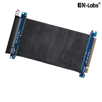 PCIE 3.0 x16 Shielded PCI Express Extender Riser Cable - GPU PCIe 16X Horizontal 180 Degree Socket Extension Card адаптер lenovo system x3550 m5 pcie riser 1 1xlp x16cpu0 00ka061 page 9