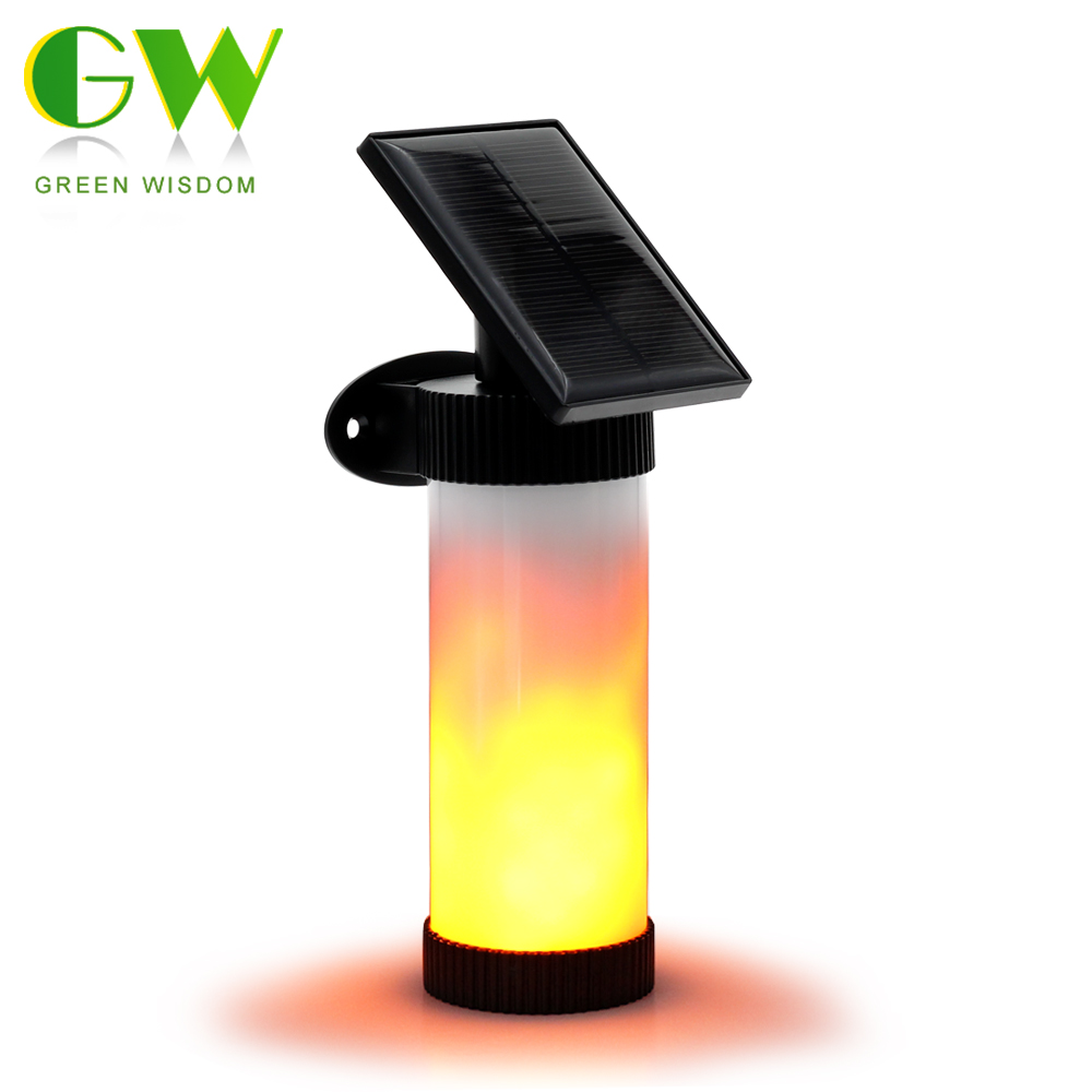 Why Are My Garage Lights Flickering: Solar Powered LED Porch Light 3 Modes Solar Fire Flame