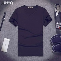 New 2017 Men T Shirt V Neck Pure Color Render Unlined Upper Garment Cultivate One S